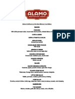 Alamo Drafthouse New Mission Food Menu