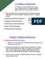 Origin of Mineral Deposits