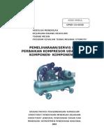 Pemeliharaan Servis Dan Perbaikan Kompresor Udara Dan Komponen - Komponennya