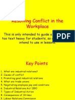 summary of resolving conflict in the workplace