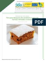 Pan Para Desayuno de Zanahoria y Coco Sin Harinas Refinadas