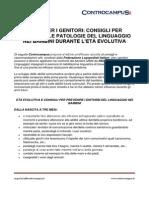Guida Per i Genitori. Consigli e Prevenzione Dsl