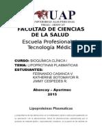 monografia Lipoproteinas Plasmaticas