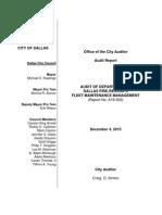 DFR Vehicle Audit