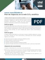 Máster Especializado en Plan de Negocios en La Web 3.0 y Analítica