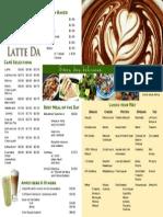 latte da menu
