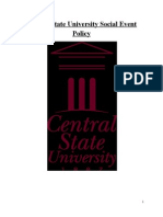 central state university social event policy