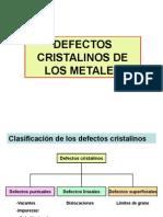 Defectos Cristalinos de Los Metales