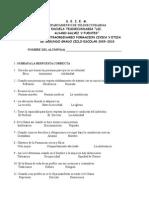 Examen Extraordinario de Formacion Civica