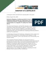 OVERSEAS TRANSPORT OF A ZEPPELIN BY