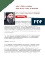 Despair Born of Misery Fuels Terrorism -Western Leaders Blind to Root Causes of Terrorism