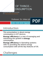 Internet of Things – Energy CONSUMPTION