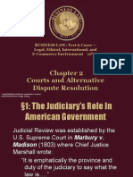 Ch 2 - Courts and Alternative Dispute Resolution
