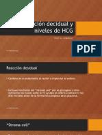 reaccion decidual y niveles de hc