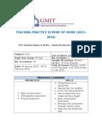 tp2 4th yr dcg scheme of work