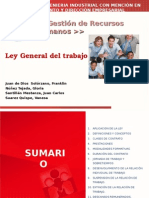 Presentación Final Ley General del Trabajo