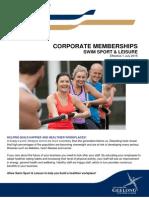Corporate Memberships Information 2015