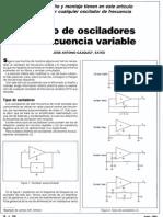 Diseño de Osciladores de Frec. Variable