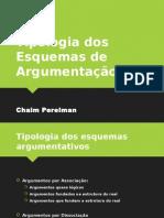 Tipologia dos Esquemas de Argumentação