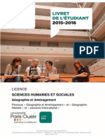 Livret Licence Geographie 2015 2016 Version Definitive 2015
