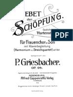 -Griesbacher Peter Gebet Der Sch Pfung Op.94