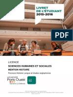 Livret Licence Histoire Anglais 2015 2016 Version Definitive 2015