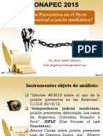 Conapec 2015 Prisión Preventiva en El Perú. Eficacia Procesal o Juicio Mediático