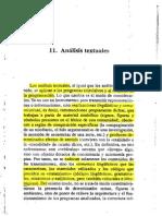 Analisis textuales