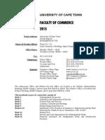 uct commerce syllabus 2015