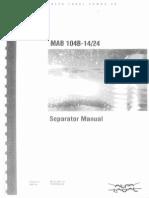 Alfa Laval Separator Manual MAB 104B-14I24