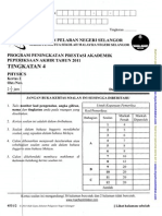 Fizik Form 4 Selangor
