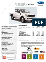 Ford Ranger XL 6 Speed MT Price List_PM