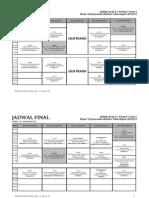 Jadwal Blok 4.3 Reguler Termin II