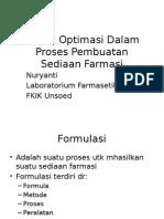 4 Teknik Optimasi Dalam Proses Pembuatan Sediaan Farmasi