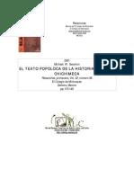 Texto Popoluca de La Historia Tolteca Chichimeca