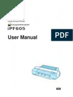 Canon IPF605 User Manual