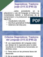 Laminas criterios Trastornos del Lenguaje