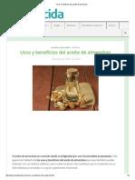 Usos y Beneficios Del Aceite de Almendras