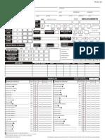 D&D 3E - Ficha de Personagem D20 - Completável - Biblioteca Élfica