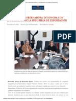 06-12-15 Se reunió la gobernadora de Sonora con empresarios de la industria de exportación - El Observador