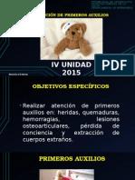 IV UNIDAD  PRIMEROS AUXILIOS RCP I MD211_2015.pptx