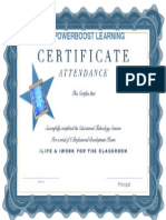 ILife & IWork- Certificate of Completion