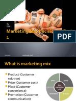 Marketing Mix Decisions – Part 1