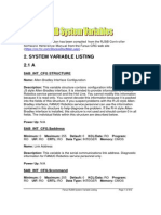 System Variables List R-J3iB
