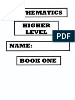 IB maths HL BOOK ONE A
