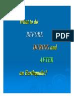 Knowledge on Earthquake