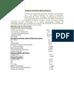 Balance Metalurgico y Conclusiones
