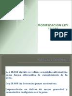 Ley 18.216 Julio 2012