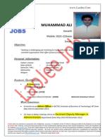 Muhammad Ali - Admin Officer