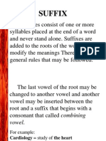 3 Suffixes